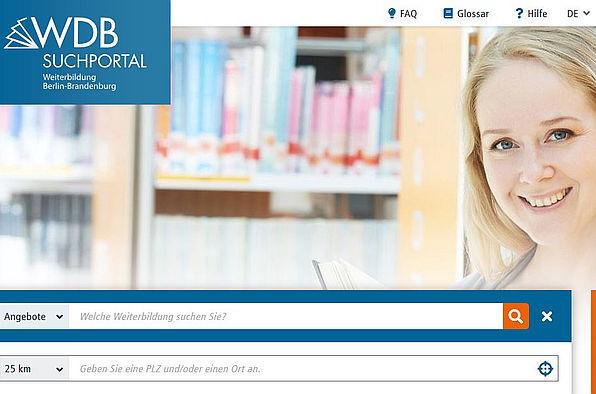 Bildschirmfoto WDB Suchportal