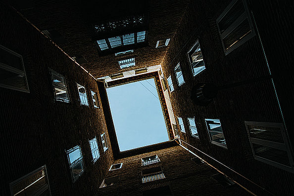 Lichthof eines Hauses