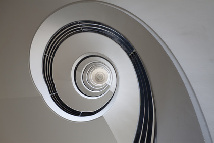 Spiralfümiges Treppenhaus