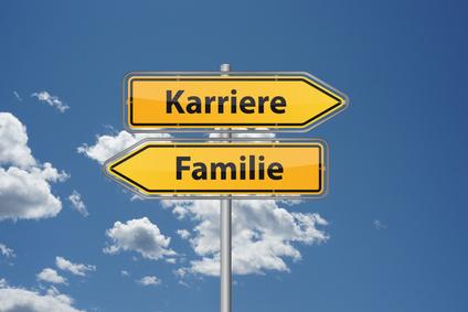Schilder Karriere oder Familie